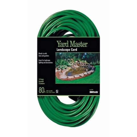 Woods Yard Master Outdoor 80 ft. L Green Extension Cord 16/3