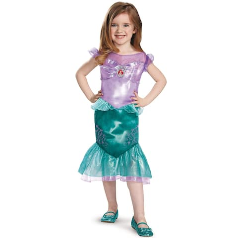 Disguise Ariel Classic Toddler Costume - Purple/Green