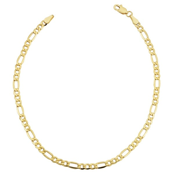 Fremada 14k Yellow Gold-filled Figaro Link Bracelet (8.5-inch). Opens flyout.