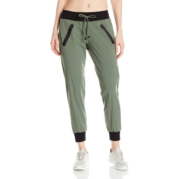 c38c5349a7 Shop Blanc Noir Green Womens Size Medium M Tech Jogger Stretch Pants - Free  Shipping On Orders Over $45 - Overstock - 21660072