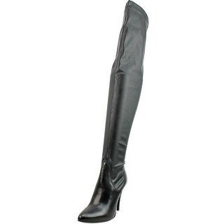 Charles David Katerina Pointed Toe Leather Over the Knee Boot