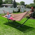 Sunnydaze Large 2-Person Rope Hammock with Spreader Bar & Hammock Stand - Thumbnail 16