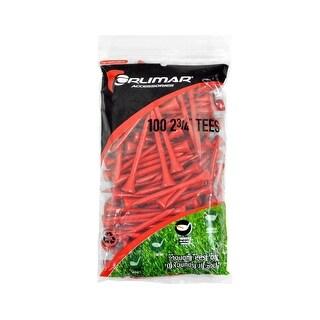 Orlimar 2 3/4-Inch Golf Tees 100-Pack (Red)