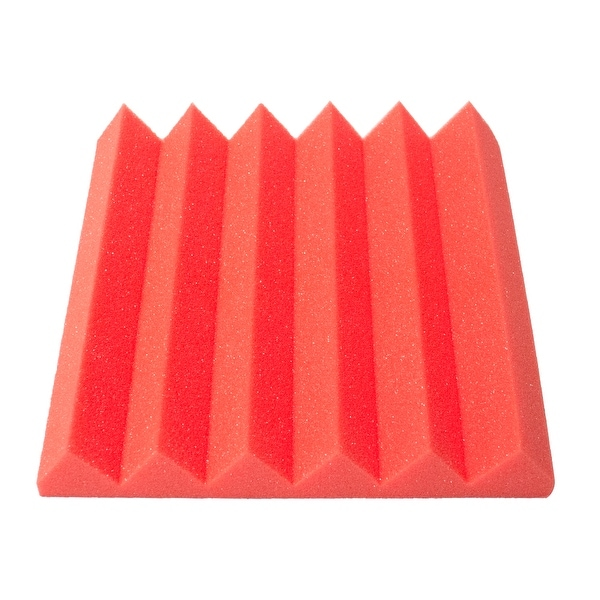 Sound Dampening Tiles 12 Pack of Red 3 Inch Studio Acoustic Foam Sheets
