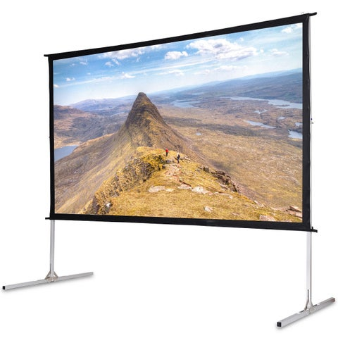 Gymax 120'' 16:9 Portable Foldaway Projector Screen Front Projection Home Theater Movie