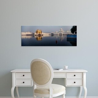 Easy Art Prints Panoramic Images's 'Temple at the waterfront, Golden Temple, Amritsar, Punjab, India' Canvas Art