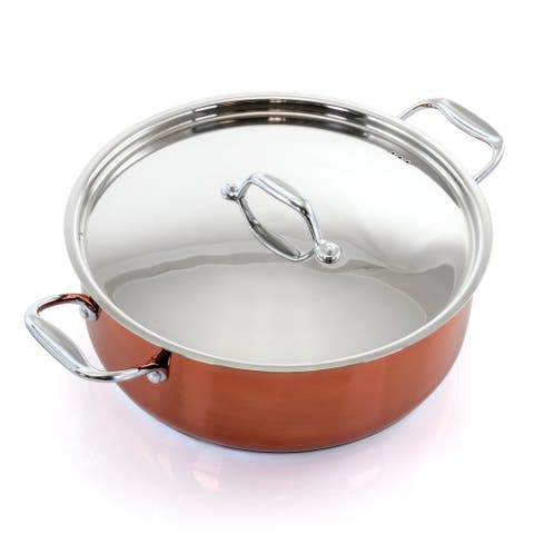 Better Chef 8 Quart Stainless Steel Low Pot in Copper