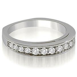 0.50 cttw. 14K White Gold Round Cut Diamond Wedding Ring