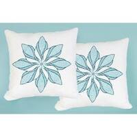 "Floral Pinwheel - Stamped White Pillowtops 15""X15"" 2/Pkg"