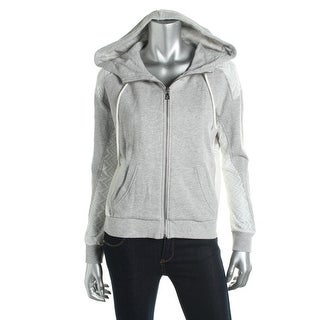 Two by Vince Camuto Womens Sweatshirt Heathered Hooded - l