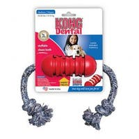 Kong Dental With Floss Rope Red Small
