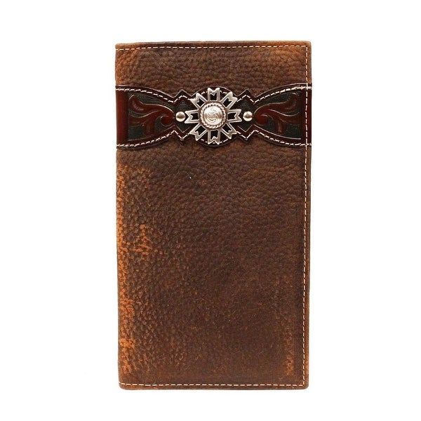 Ariat Western Wallet Mens Rodeo Overlay Leather Brown - One size