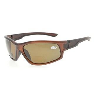 eede0366ad9 Shop Eyekepper Sports Bifocal Polycarbonate Polarized Reading Sunglasses  TR90 Unbreakable(Brown Frame Brown Lens