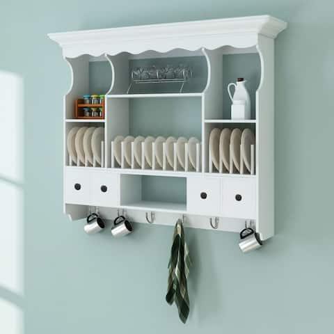 vidaXL Wooden Kitchen Wall Cabinet White