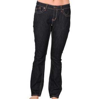 Zana-Di Womens Junior Plus Fashion Jeans, Dark Indigo Rinse
