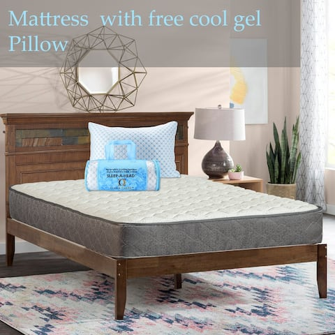 Onetan , 10-Inch Pocketed Coil Rolled Medium Plush Mattress With Cover And Comes With Free Pillow.