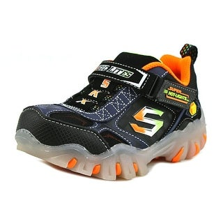 Skechers Magic Lites Street Lightz Vroom Youth Canvas Black Tennis Shoe