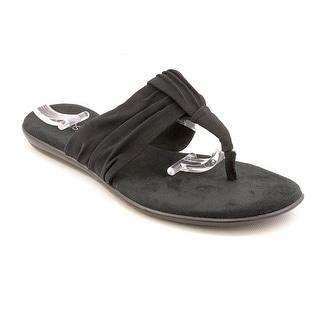 Aerosoles Chlairvoyant Women Open Toe Canvas Black Thong Sandal