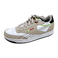 Reebok Men's Club DGK Pump White/Stucco-Red-Citron-Black 34-166674