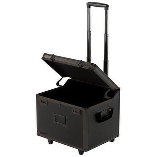 Locking Mobile File Chest Letter Legal Tactical - Black