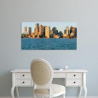 Easy Art Prints Panoramic Images's 'Boston Harbor and the Boston skyline, Massachusetts, New England' Canvas Art