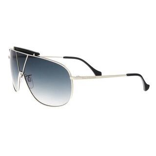 Balenciaga BA0030 16B Silver/Black Aviator Sunglasses - 66-8-135
