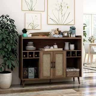 Link to Furniture of America Jessep Contemporary Distressed Walnut Buffet Similar Items in Dining Room & Bar Furniture
