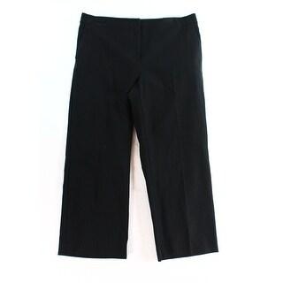 Alfani NEW Black Women's Size 8 Capris Cropped Flat Front Pants