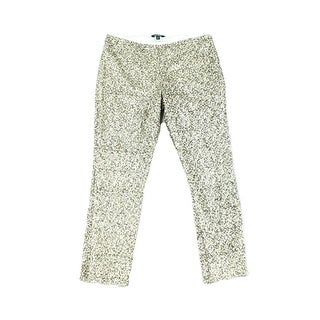 Lauren By Ralph Lauren NEW Silver Women's Size 10 Sequined Pants