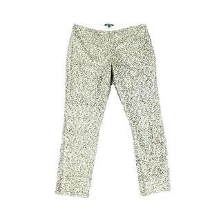 Lauren By Ralph Lauren NEW Silver Womens Size 4 Sequined Dress Pants