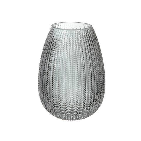 Charcoal Egg Shape Glass Vase
