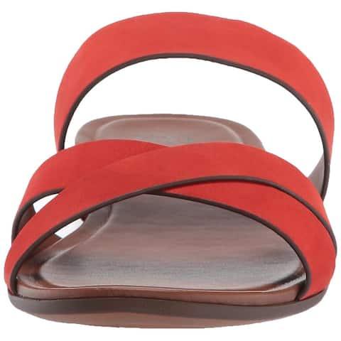 Naturalizer Womens Treasure Leather Open Toe Beach Slide Sandals