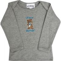 4CLSTBBG-1824 Grey Long Sleeve T-Shirt - Boy Bear, 18-24