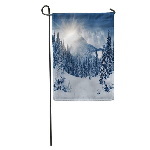 Shop Mountain Beautiful Winter Landscape Snow Covered ...