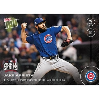 Chicago Cubs Jake Arrieta #632 Topps NOW 5 Hitless IP Out Of The Gate - multi