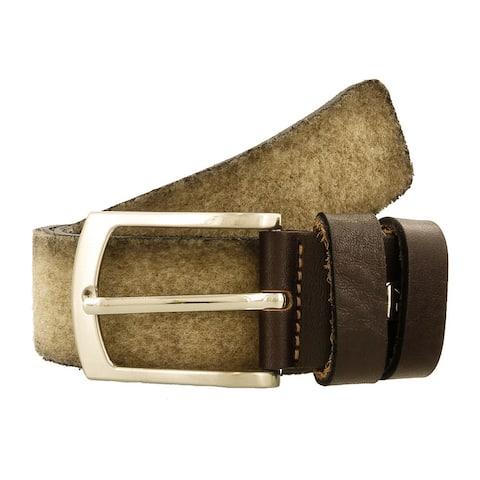 Renato Balestra A443 BEIGE Leather Mens Belt