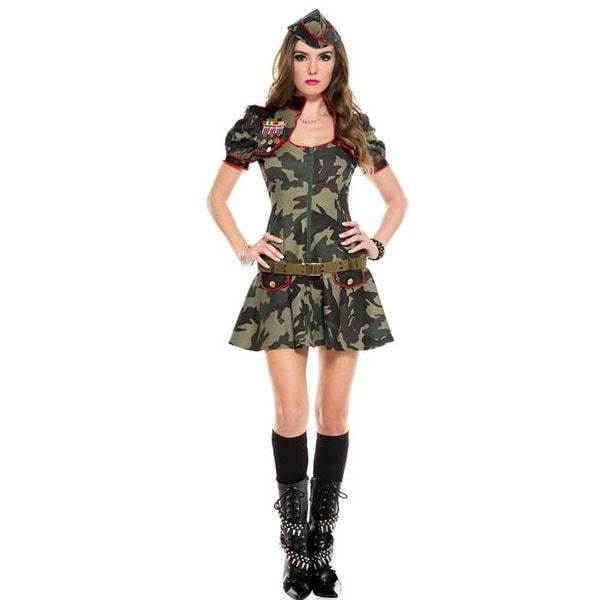 3dd67864f298e Music Legs 70565-ML 3 Piece Sexy Army Brat Costume - Medium & Large