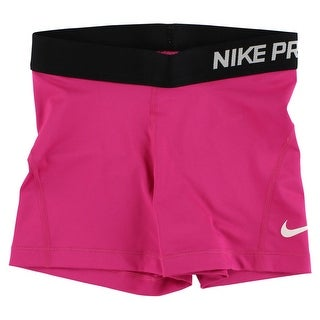 Nike Womens Pro Three Inch Training Shorts Pink - Pink/black