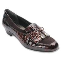 Ros Hommerson Womens Teresa Leather Square Toe Loafers