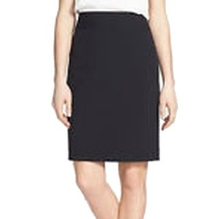 Calvin Klein NEW Black Women's Size 2P Petite Faux Leather Pencil Skirt