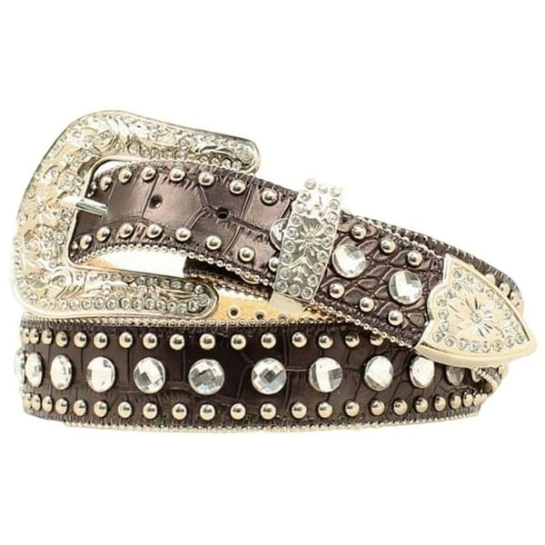 Blazin Roxx Western Belt Womens Crystal Gator Black