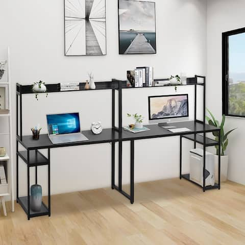 Two Person Computer Desk with Storage