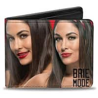 Brie Bella 4 Vivid Poses Brie Mode Red Bi Fold Wallet - One Size Fits most