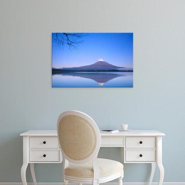 Easy Art Prints Rob Tilley's 'Mt Fuji From Motosu Lake' Premium Canvas Art