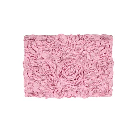 """Bell Flower Collection Cotton Bath Rug 17""""x24"""""""