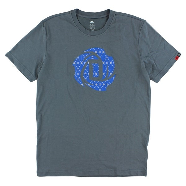 587f7f829942 Shop Adidas Mens Derrick Rose Logo T Shirt Grey - Grey Blue - Free Shipping  On Orders Over  45 - Overstock - 22615279