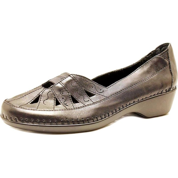 Easy Spirit Dixiee Women N/S Round Toe Leather Black Loafer
