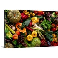 Premium Thick-Wrap Canvas entitled Fruit and vegetables still life.