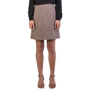 Miu Miu Women's Virgin Wool Tweed Skirt Brown - 42