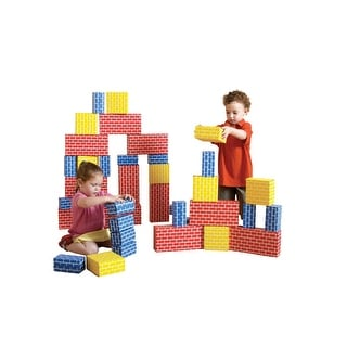 Childcraft Corrugated Blocks, Blue, Red and Yellow, Set of 36